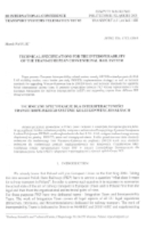 Technical specifications for the interoperability on the trans-European conventional rail system