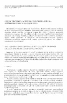 Ocena transmitancji drgań w przekładni na stanowisku mocy krążącej FZG