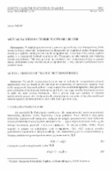 Aktualna wersja teorii płynności ruchu