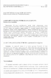 Laminarny przepływomierz szczeliny (badania eksperymentalne)