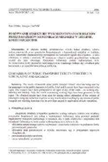 Porównanie struktury wykorzystywanych biletów przez pasażerów komunikacji miejskiej w Lublinie, Łodzi i Szczecinie