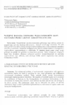 Wstępne badania usuwania węglowodorów ropy naftowej przez grzyby keratynolityczne