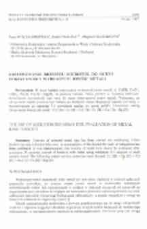 Zastosowanie biotestu Microtox do oceny toksyczności wybranych jonów metali
