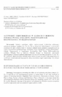 Aktywność dehydrogenaz w glebach z rejonów oddziaływania zakladów przemysłowych województwa podkarpackiego