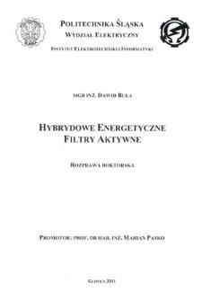 Recenzja rozprawy doktorskiej mgra inż. Dawida Buły pt. Hybrydowe energetyczne filtry aktywne