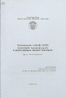 Recenzja rozprawy doktorskiej mgra inż. Mariusza Frąckiewicza pt. Zastosowanie techniki KHM (k-średnich harmonicznych) w przetwarzaniu obrazów barwnych