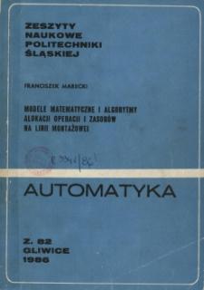 Modele matematyczne i algorytmy alokacji operacji i zasobów na linii montażowej