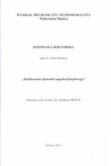 Recenzja rozprawy doktorskiej mgra inż. Adama Stachury pt. Modelowanie dynamiki napędu hybrydowego