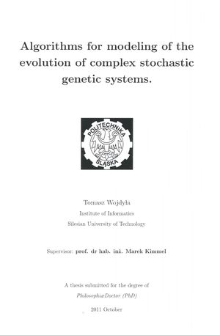 Algorithms for modeling of the evolution of complex stochastic genetic systems