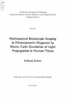 Multispectral endoscopic imaging in photodynamic diagnosis by Monte Carlo simulation of light propagation in human tissue