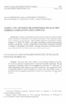 Synteza i właściwości transportowo-separacyjne membran siloksanowo-uretanowych