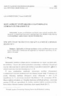 Nowe aspekty wytwarzania i zastosowania membran chitozanowych