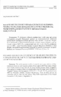 Badanie skuteczności separacji emulsji olejowo-wodnej na filtrze koalescencyjnym z przegrodą włókninową stosowanym w separatorach okrętowych