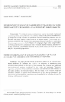 Membranowe usuwanie nadmiernej twardości z wód przeznaczonych do picia i na potrzeby gospodarcze
