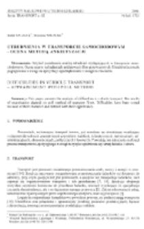 Utrudnienia w transporcie samochodowym - ocena metodą ankietyzacji