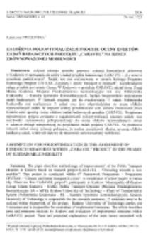"""Założenia polioptymalizacji procesu oceny efektów zadań badawczych projektu """"CARAVEL"""" na rzecz zrównoważonej mobilności"""