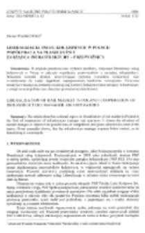 Liberalizacja usług kolejowych w Polsce : współpraca na płaszczyźnie zarządca infrastruktury - przewoźnicy