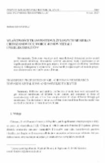 Właściwości transportowe żelowych membran chitozanowych wobec jonów metali i nieelektrolitów