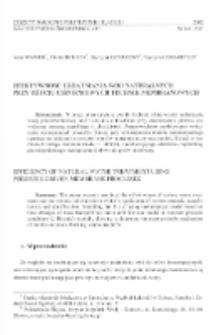 Efektywność uzdatniania wód naturalnych przy użyciu ciśnieniowych technik membranowych