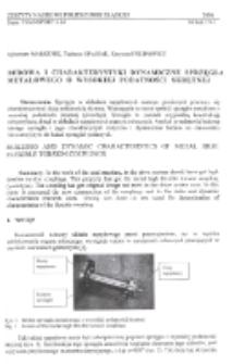 Budowa i charakterystyki dynamiczne sprzęgła metalowego o wysokiej podatności skrętnej