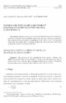 Wydzielanie fenyloamin z roztworów koloidalnych surfaktantów metodą ultrafiltracji