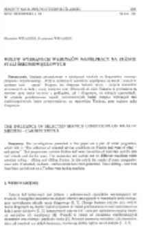 Wpływ wybranych warunków współpracy na zużycie stali średniowęglowych