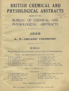 British Chemical and Physiological Abstracts. A. Pure Chemistry and Physiology. II. Organic Chemistry, December