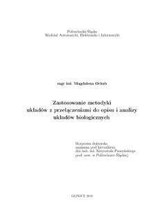 Recenzja rozprawy doktorskiej mgr inż. Magdaleny Ochab pt. Zastosowanie metodyki układów z przełączeniami do opisu i analizy układów biologicznych