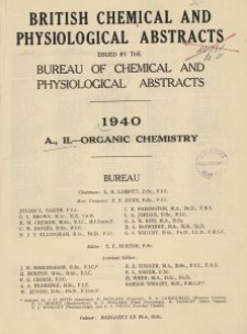 British Chemical and Physiological Abstracts. A. Pure Chemistry and Physiology. II. Organic Chemistry, Index of authors' names