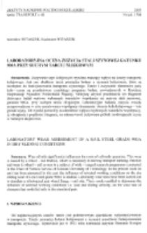 Laboratoryjna ocena zużycia stali szynowej gatunku 900A przy suchym tarciu ślizgowym