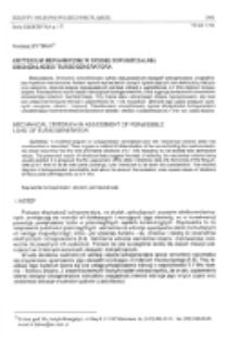 Kryterium mechaniczne w ocenie dopuszczalnej obciążalności turbogeneratora