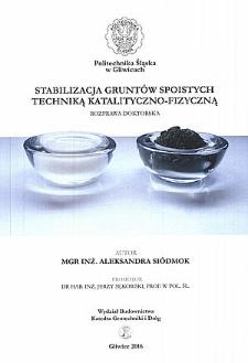 Stabilizacja gruntów spoistych techniką katalityczno-fizyczną