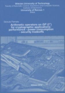 Recenzja rozprawy doktorskiej mgr inż. Danuty Pamuły pt. Arithmetic operators on GF(2m) for cryptographic applications : performance - power consumption - security tradeoffs
