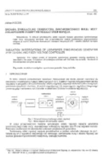 Badania symulacyjne generatora synchronicznego małej mocy z klasycznym i rozmytym regulatorem napięcia