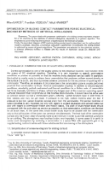 Optimization of sliding contact parameters for DC electrical machine by methods of artificial intelligence