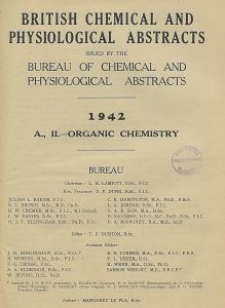 British Chemical and Physiological Abstracts. A. Pure Chemistry and Physiology. II. Organic Chemistry, April
