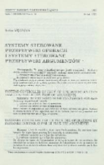 Systemy sterowane przepływem operacji i systemy sterowane przepływem argumentów