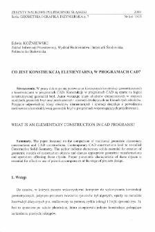Co jest konstrukcją elementarną w programach CAD?