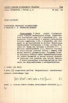 Obcowzbudne rezonanse parametryczne w układach o n stopniach swobody