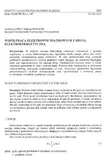 Współpraca elektrowni wiatrowych z siecią elektroenergetyczną
