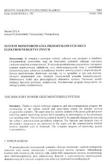 System monitorowania przemysłowych sieci elektroenergetycznych