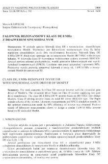 Falownik rezonansowy klasy DE 8 MHz z drajwerem sinusoidalnym