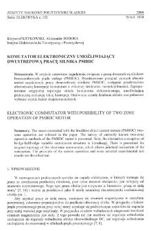 Komutator elektroniczny umożliwiający dwustrefową pracę silnika PMBDC