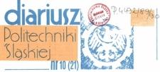 Diariusz Politechniki Śląskiej, Nr 1 (24), październik 1990