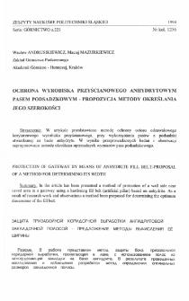 Ochrona wyrobiska przyścianowego anhydrytowym pasem podsadzkowym - propozycja metody określania jego szerokości