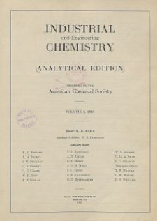 Industrial and Engineering Chemistry : analytical edition, Vol. 5, No. 5