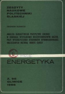 Analiza radiacyjnego przepływu energii w komorze wypełnionej nieizotermicznym gazem, przy wykorzystaniu stosunków opromieniowania obliczanych metodą Monte Carlo