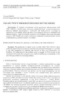 Układy PWM w mikrokontrolerze DSP TMS 320F2812