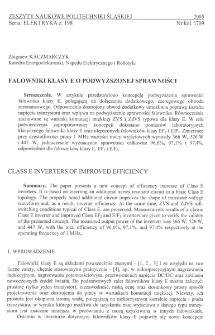 Falowniki klasy E o podwyższonej sprawności