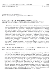 Badania symulacyjne i eksperymentalne skompensowanego przemiennika częstotliwości